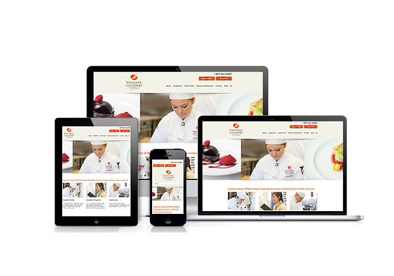 Cascade Culinary Institute was designed by Studio Absolute and developed by GelFuzion as part of our agency partnership. The site was built using Wordpress and is fully responsive.