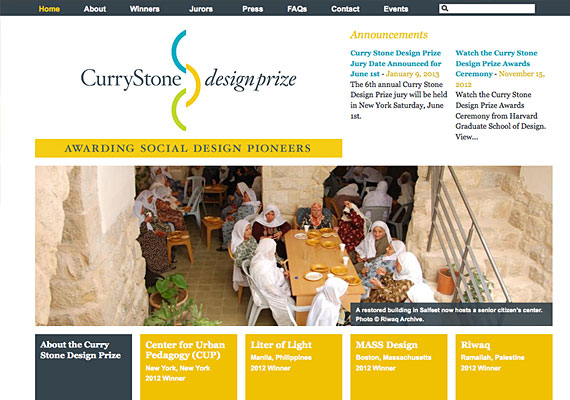 Website developed for Curry Architecture.